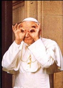 Peeping Pope