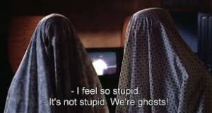 (No, you ARE stupid. Damn ghosts... I should exorcise you.)