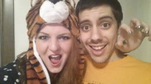 My tiger hat. Roarr.