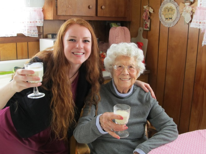 She made it with pretty much every alcohol ever created. You'd be wasted after one glass.