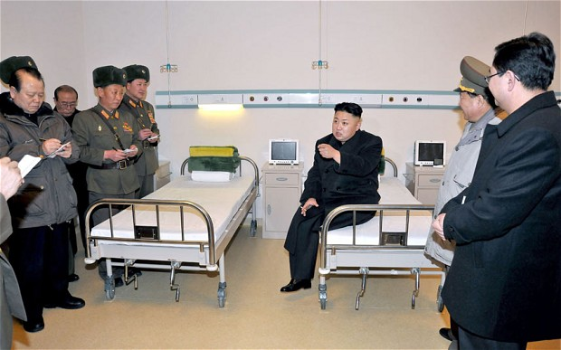 Kim Jong-Un is smoking inside a hospital because he knows what he wants out of life.
