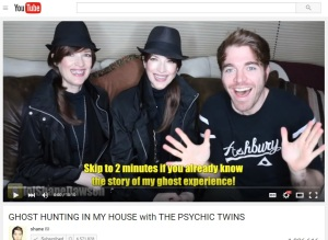 Ghost Hunting Shane Dawson Psychic Twins Youtube Vlog