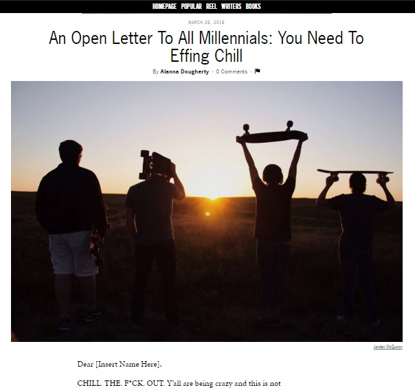 Alanna Open Letter To Millennials Thought Catalog