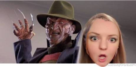 Alanna and Freddy Kreuger Nightmare of Elm Street